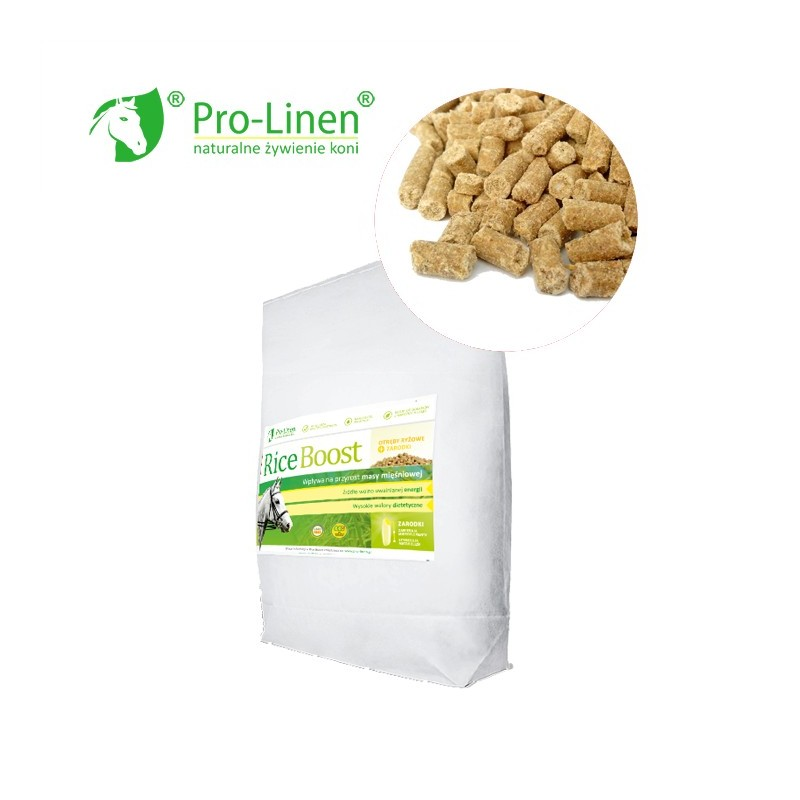 Pro-Linen Rice Boost - Otręby Ryżowe dla koni + Zarodki 15 KG