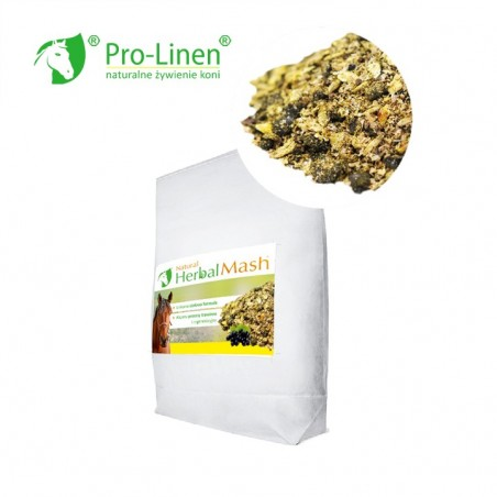Pro-Linen Natural Herbal Mash 15 kg - mesz dla koni